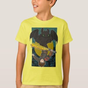 """""""Dragon Rider"""" Toothless & Hiccup Duo Graphic T-Shirt"""