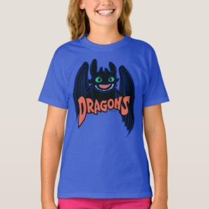 """""""Dragons"""" Toothless Wings Graphic T-Shirt"""