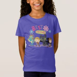 """Cute """"Best Friends"""" Hiccup & Astrid With Dragons T-Shirt"""