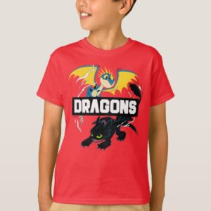 """Stormfly & Toothless """"Dragons"""" Graphic T-Shirt"""