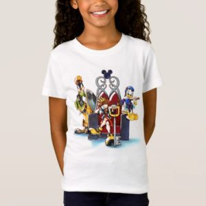 Kingdom Hearts | Sora, Donald, & Goofy On Throne T-Shirt