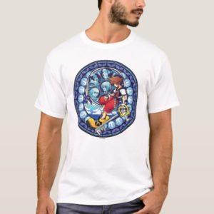 Kingdom Hearts   Blue Stained Glass Key Art T-Shirt