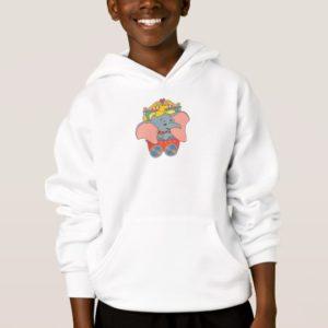 Dumbo sitting in his trolley hoodie