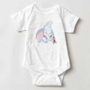 Dumbo Dumbo and Timothy Q. Mouse talking Baby Bodysuit