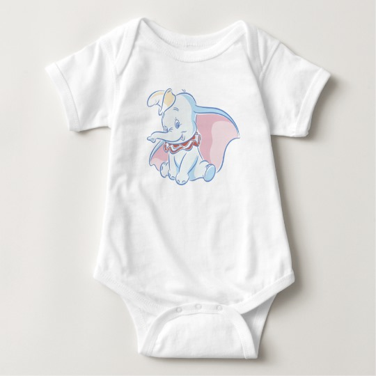 Cute Dumbo Sketch Baby Bodysuit