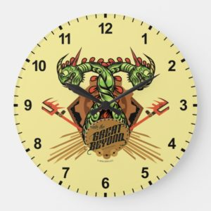 """""""Into the Great Beyond"""" Barf & Belch Tribal Icon Large Clock"""
