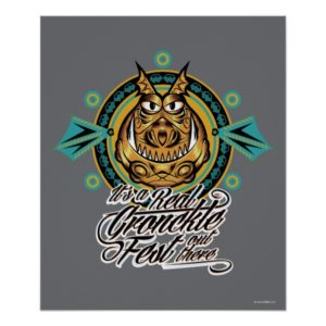 """""""It's a real Gronkle Fest out there"""" Tribal Emblem Poster"""
