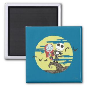 Jack and Sally | Cute Moon Magnet