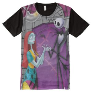 Jack and Sally Holding Hands All-Over-Print T-Shirt