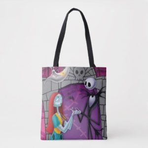 Jack and Sally Holding Hands Tote Bag