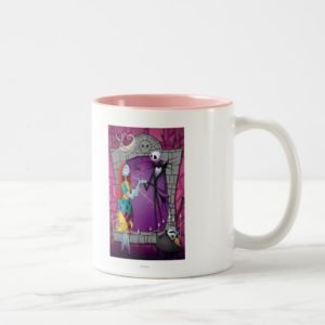 Jack and Sally Holding Hands Two-Tone Coffee Mug