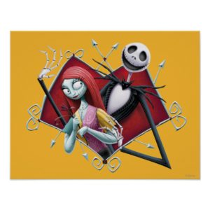 Jack and Sally in Heart Poster
