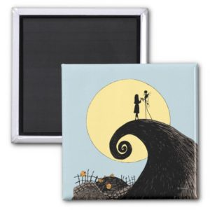 Jack and Sally | Moon Silhouette Magnet