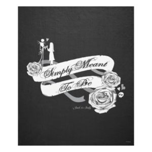 Jack and Sally - Simply Meant To Be Fleece Blanket