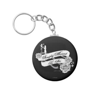 Jack and Sally - Simply Meant To Be Keychain