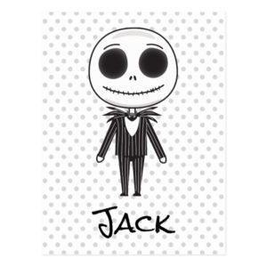 Jack Skellington Emoji Postcard