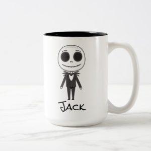 Jack Skellington Emoji Two-Tone Coffee Mug