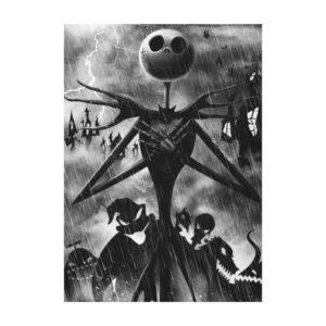 Jack Skellington   Ghostlike Charm Canvas Print