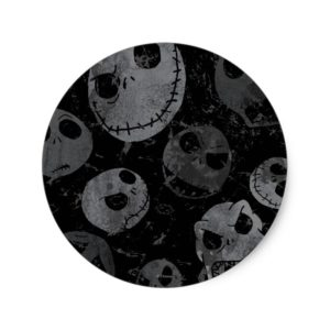 Jack Skellington Pattern Classic Round Sticker