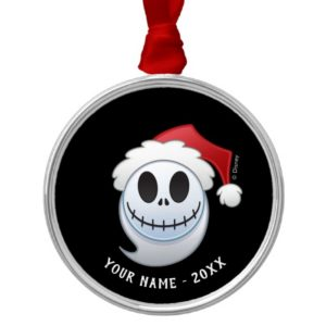 Jack Skellington Santa Emoji Metal Ornament