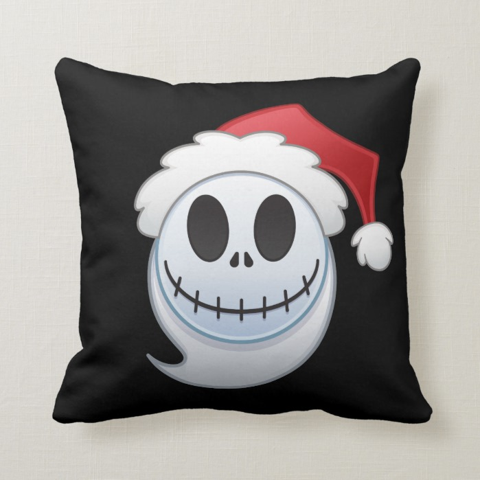 Jack Skellington Santa Emoji Throw Pillow