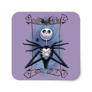 Jack Skellington | Spider Web Frame Square Sticker