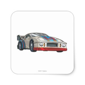 Jazz Car Mode Square Sticker