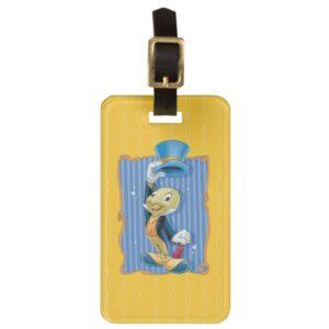 Jiminy Cricket Lifting His Hat Bag Tag