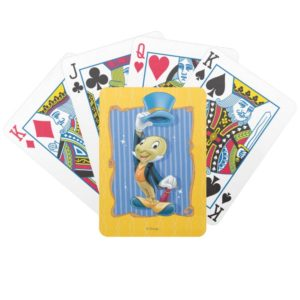 Jiminy Cricket Lifting His Hat Bicycle Playing Cards
