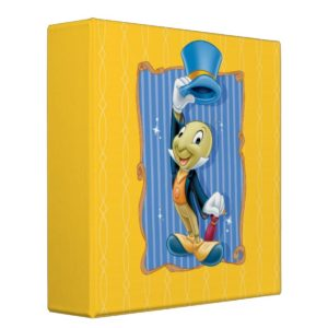 Jiminy Cricket Lifting His Hat Binder