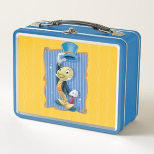 Jiminy Cricket Lifting His Hat Metal Lunch Box