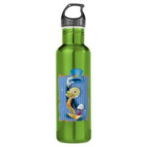 Jiminy Cricket Lifting His Hat Stainless Steel Water Bottle