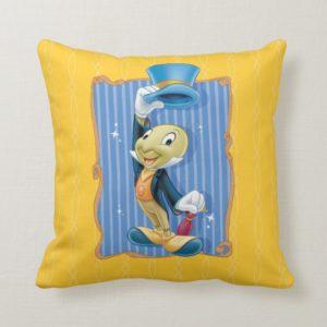 Jiminy Cricket Lifting His Hat Throw Pillow