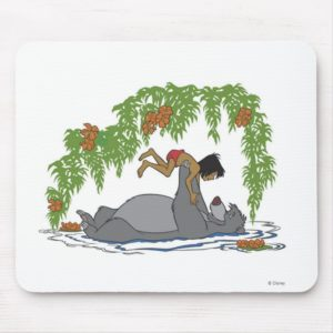 Jungle Book Baloo holding up Mowgli  Disney Mouse Pad
