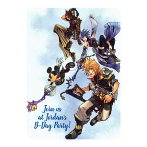 Kingdom Hearts: Birth by Sleep | Main Cast Box Art Invitation