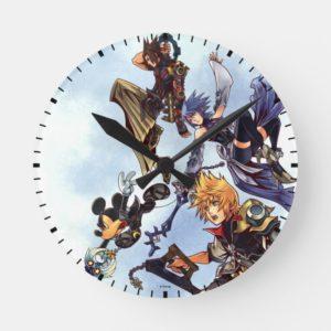 Kingdom Hearts: Birth by Sleep | Main Cast Box Art Round Clock