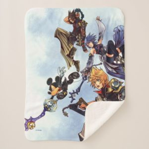 Kingdom Hearts: Birth by Sleep   Main Cast Box Art Sherpa Blanket