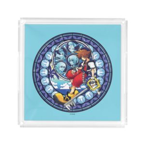 Kingdom Hearts | Blue Stained Glass Key Art Acrylic Tray