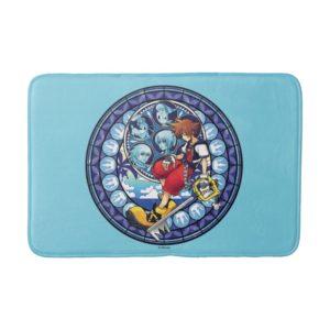 Kingdom Hearts | Blue Stained Glass Key Art Bath Mat