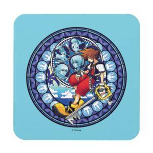 Kingdom Hearts | Blue Stained Glass Key Art Beverage Coaster