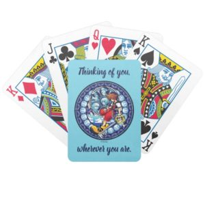 Kingdom Hearts | Blue Stained Glass Key Art Bicycle Playing Cards