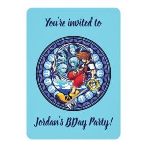 Kingdom Hearts | Blue Stained Glass Key Art Invitation