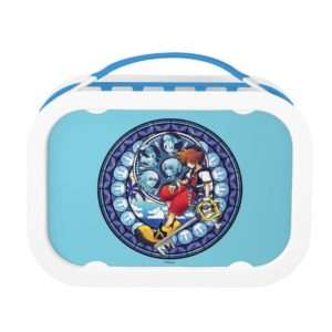 Kingdom Hearts | Blue Stained Glass Key Art Lunch Box