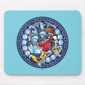 Kingdom Hearts | Blue Stained Glass Key Art Mouse Pad