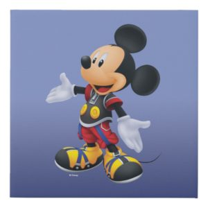 Kingdom Hearts: Chain of Memories | King Mickey Faux Canvas Print