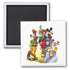 Kingdom Hearts: coded | Group Key Art Magnet