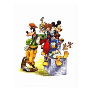 Kingdom Hearts: coded | Group Key Art Postcard