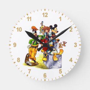 Kingdom Hearts: coded | Group Key Art Round Clock