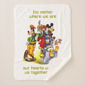 Kingdom Hearts: coded | Group Key Art Sherpa Blanket