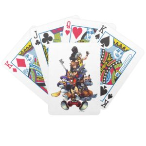 Kingdom Hearts: coded | Main Cast Key Art Bicycle Playing Cards